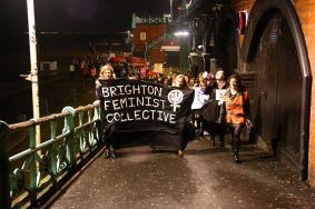 Reclaim the Night 2014. Photo credit: Brighton Feminist Collective (https://www.facebook.com/BrightonFeministCollective)