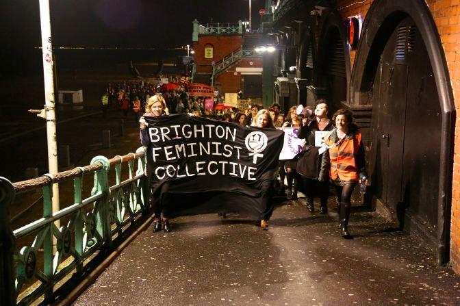 Reclaim the Night 2014. Photo credit: Brighton Feminist Collective (https://www.facebook.com/BrightonFeministCollective)