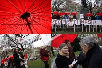 Red Umbrella march in the Czech Republic