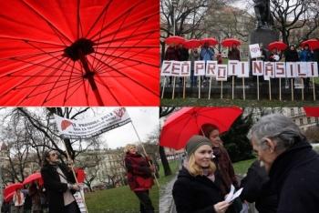 Red Umbrella march in the Czech Republic